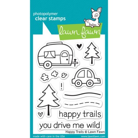 Lawn Fawn Clear Stamps - Happy Trails - LF601