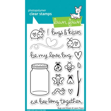 Lawn Fawn Clear Stamps - Bugs & Kisses - LF789