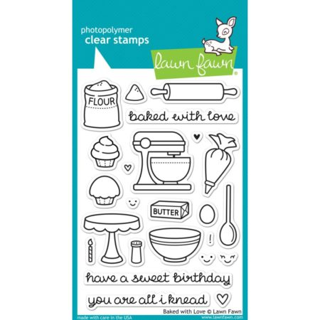 Lawn Fawn Clear Stamps - Baked With Love - LF805
