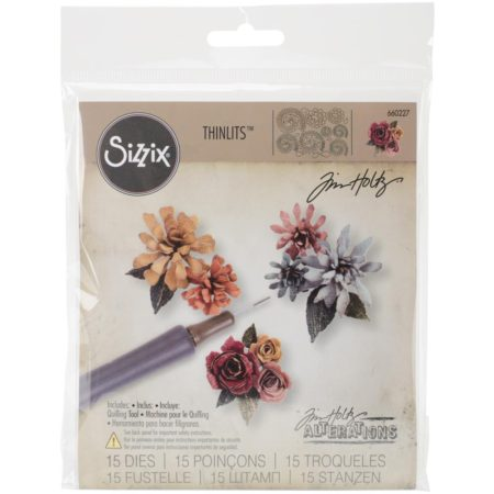 Tim Holtz/Sizzix Die - Thinlits - Tiny Tattered Florals - 660227