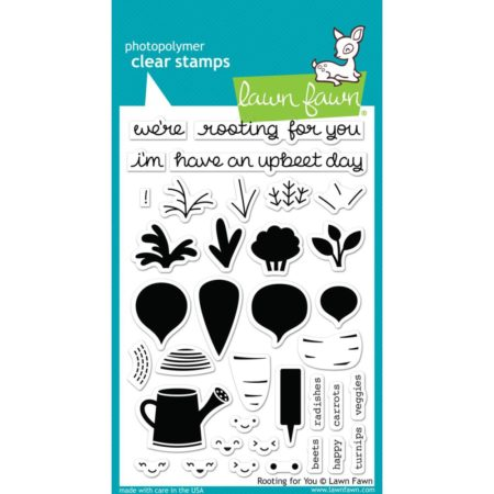 Lawn Fawn Clear Stamps - Rooting For You - LF1040s