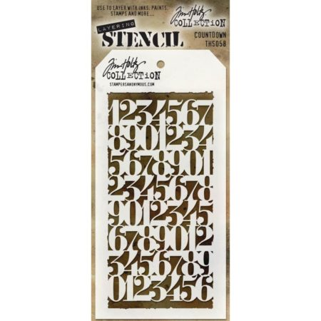 Tim Holtz - Layered Stencil - Countdown - THS058