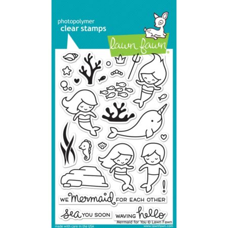Lawn Fawn Clear Stamps - Mermaid For You - LF1167