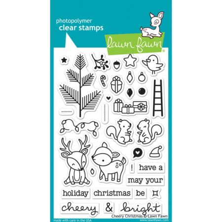 Lawn Fawn Clear Stamps - Cheery Christmas - LF1216