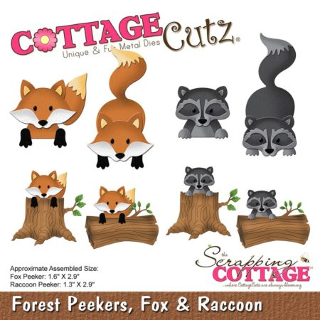 Cottage Cutz - Forest Peekers, Fox & Raccoon - CC-226