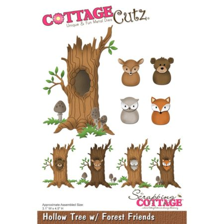 Cottage Cutz - Hollow Tree w/ Forest Friends - CC-230