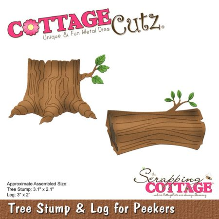 Cottage Cutz - Tree Stump & Log for Peekers - CC-232
