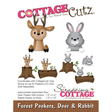 Cottage Cutz - Forest Peekers, Deer & Rabbit - CC-225