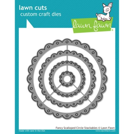 Lawn Fawn Dies - Fancy Scalloped Circle Stackables - LF1321