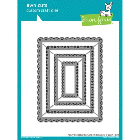 Lawn Fawn Dies - Fancy Scalloped Rectangle Stackables - LF1322
