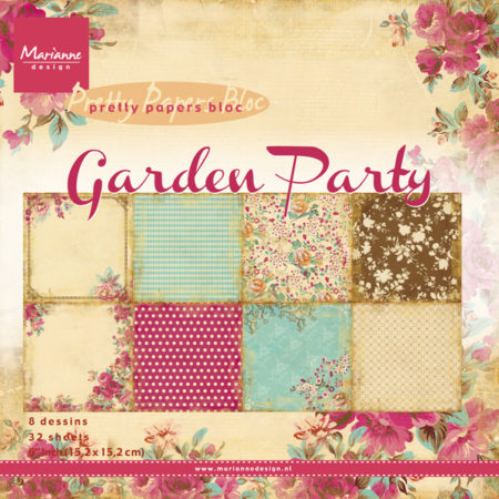 Marianne Design - Papirblok - Garden Party - PK9108