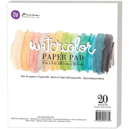 "Prima Marketing - Watercolor Paper Pad 8""X8"" - 847739"