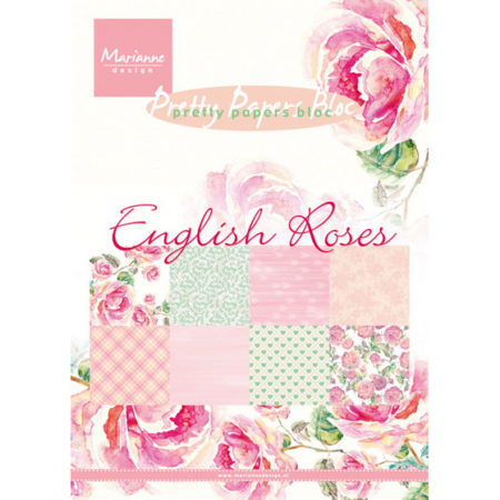 Marianne Design - Pretty Papers bloc - English Rose - PK9143