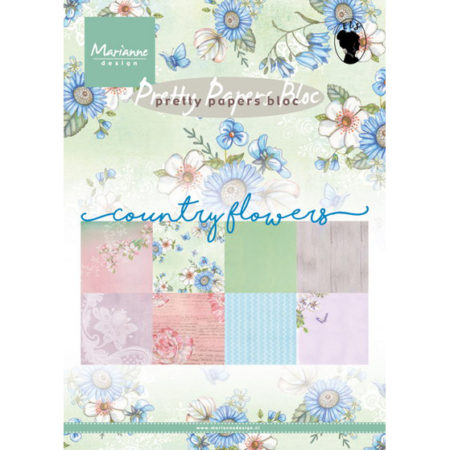 Marianne Design - Pretty Papers bloc - Country Flowers - PK9144