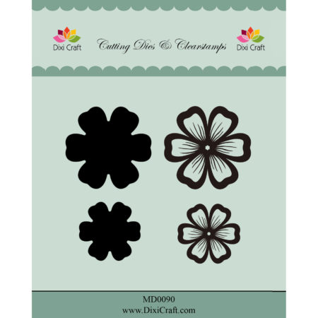 Dixi Craft - Dies/Clear stamp - Flowers - MD0090