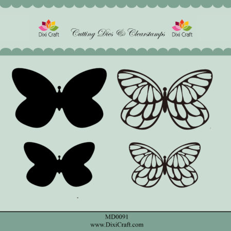 Dixi Craft - Dies/Clear stamp - Butterflies - MD0091