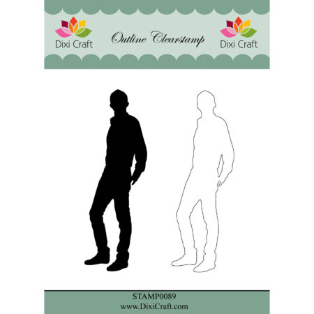 Dixi Craft - Outline Clearstam - Boy - STAMP0089
