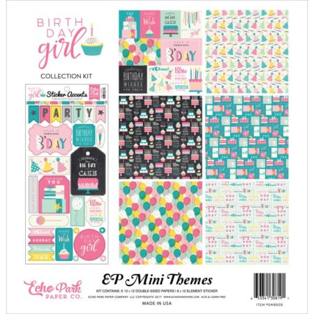 Echo Park Mini Themes - Birthday Girl - SW8505