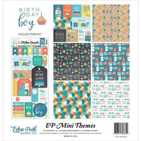 Echo Park Mini Themes - Birthday Boy - SW8605