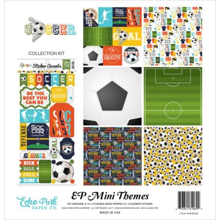 Echo Park Mini Themes Kit - Soccer - SW8905