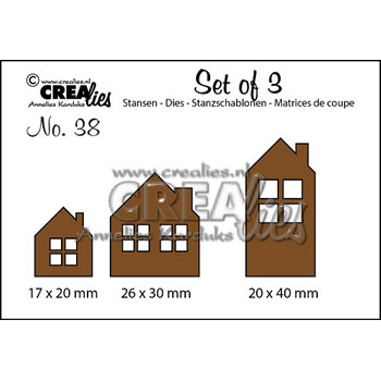 Crealies Crea Dies - Set of 3 - huse - CLset38