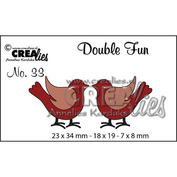 Crealies Crea Dies - Double Fun - fugle - CLDF33