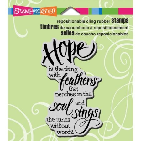 Stampendous - Cling Stamp - Hope Sings - CRM321