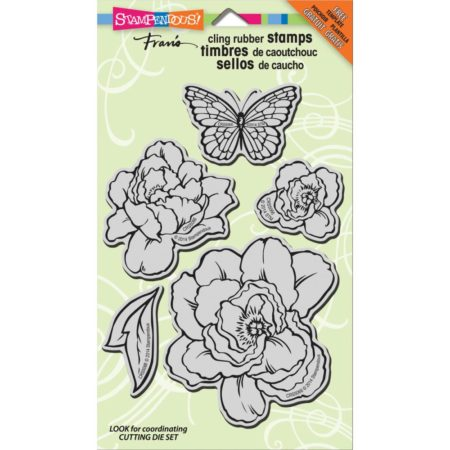 Stampendous - Cling Stamp - Lovely Garden - CRS5066