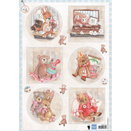 Marianne Design - 3D Ark - Teddy Bears 2 - EWK1250