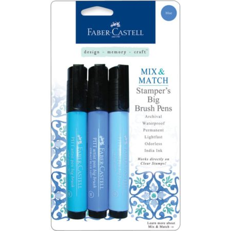FABER CASTELL - Stamper's Big Brush Pen - Blue - MMBBS 70053