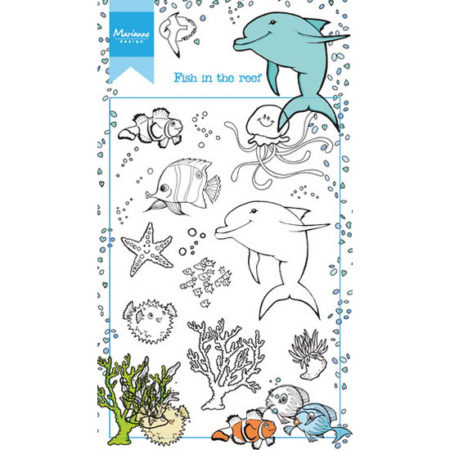 Marianne Design Stempel - Hetty's Fish in the reef - HT1618
