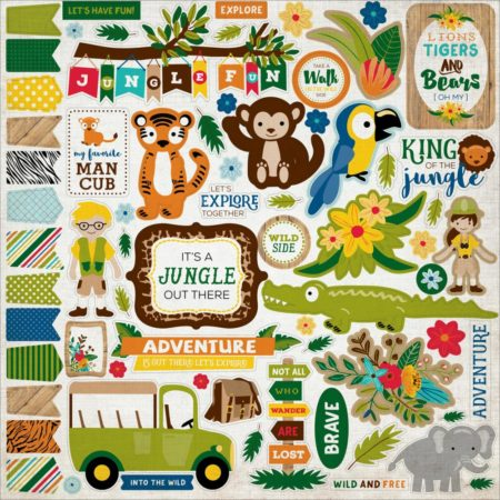 Echo Park - Cardstock Stickers - Jungle Safari - Element - JS117014