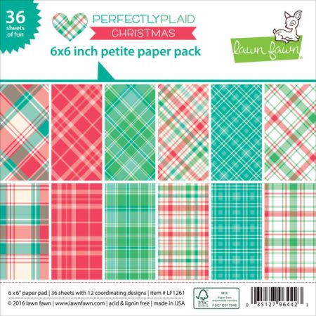 Lawn Fawn - Paper Pack - Perfectly Plaid Christmas - LF1261