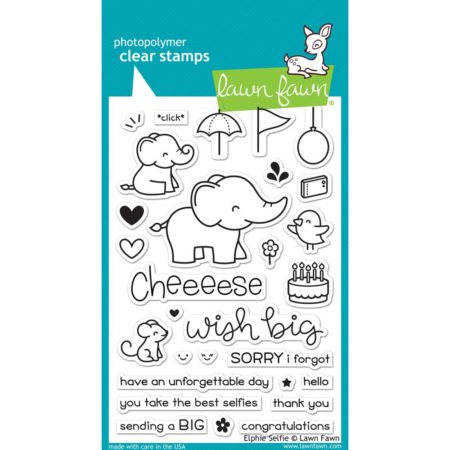 Lawn Fawn Clear Stamps - Elphie Selfie - LF1328