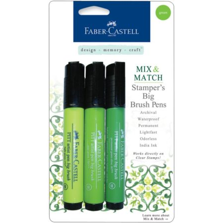 FABER CASTELL - Stamper's Big Brush Pen - Green - MMBBS 70052