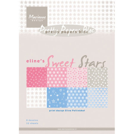 Marianne Design - Pretty Papers bloc - Eline's Sweet Star A5 - PB7051