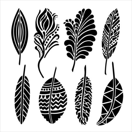 Crafter's Workshop Template - Fancy Feathers - TCW389s