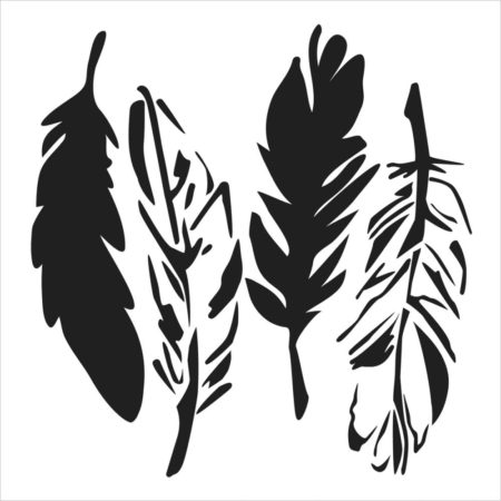 Crafter's Workshop Template - 4 Feathers - TCW405s