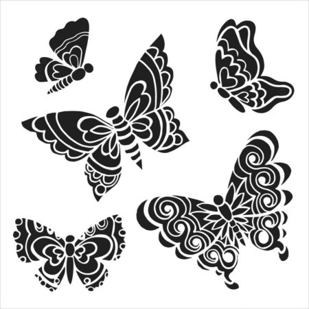 Crafter's Workshop Template - Sweet Butterflies - TCW465s
