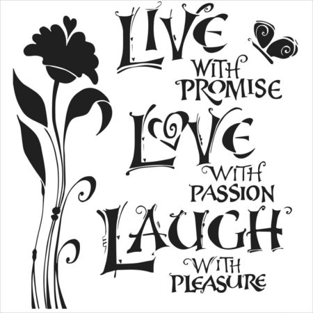 Crafter's Workshop Template - Live, Love & Laugh - TCW467s