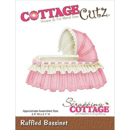 Cottage Cutz Dies - Vugge - Ruffled Bassinet - CC-012