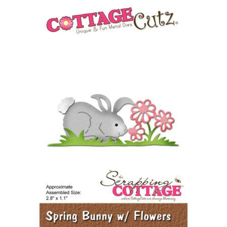 Cottage Cutz Dies - Spring Bunny With Flowers - CC-240