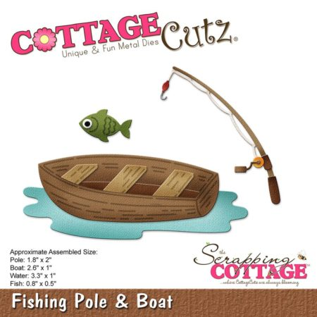 Cottage Cutz Dies - Fishing Pole & Boat - CC-257
