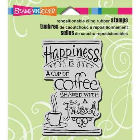 Stampendous - Cling Stamp - Shared Coffee - CRM308