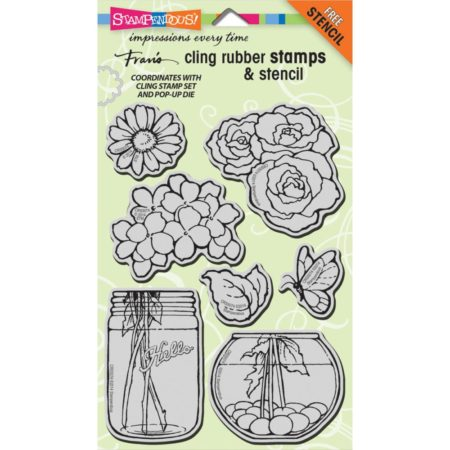 Stampendous - Cling Stamp - Build A Bouquet Set - CRS5074