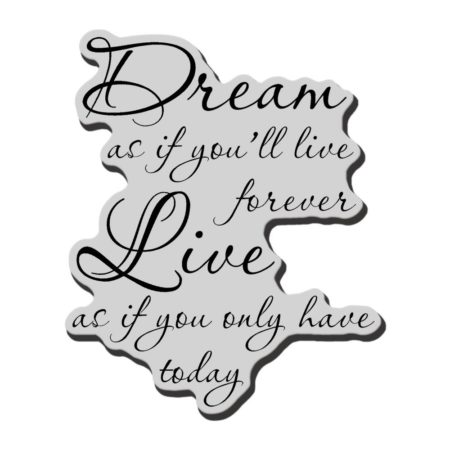Stampendous - Cling Stamp - Dream Forever - CRV219