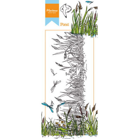 Marianne Design Stempel - HETTY'S BORDER: Pond - Dam - HT1616
