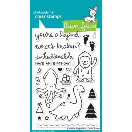 Lawn Fawn Clear Stamps - Lovable Legends - LF1038