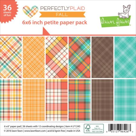 Lawn Fawn - Paper Pack - Perfectly Plaid Fall - LF1245
