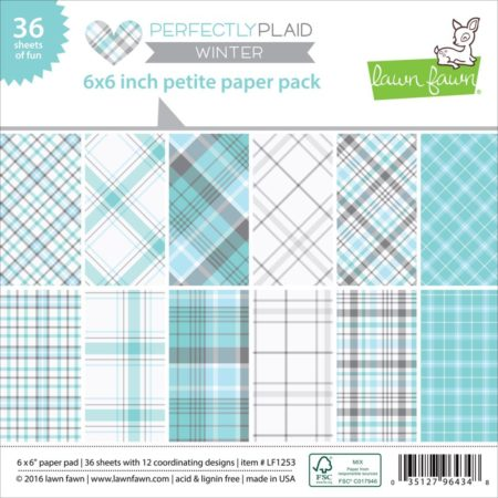 Lawn Fawn - Paper Pack - Perfectly Plaid Winter - LF1253